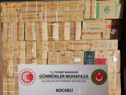 Gümrük Muhafaza ekiplerince Kocaeli'de yüzbinlerce kaçak ticari eşya yakalandı ÇağrıMerkezin